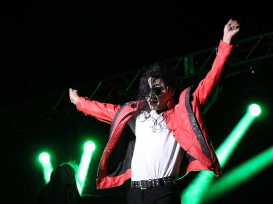 Danny Dash Andrews as Michael Jackson for tribute show at the Paramount Theatre