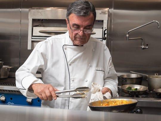 Tomaso Maggiore in the kitchen of Tomaso's When in