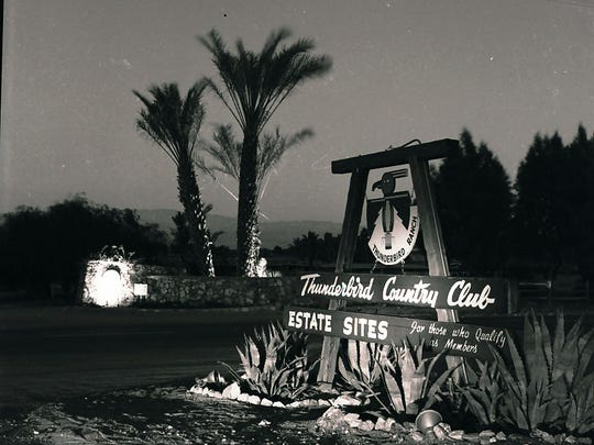 """The Thunderbird sign reads, """"For those who qualify as members."""""""