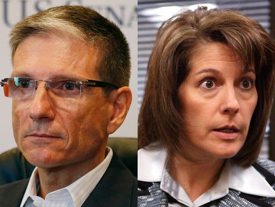 Nevada Republican Rep. Joe Heck and Democrat Catherine