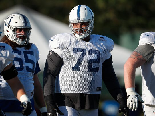 Indianapolis Colts offensive tackle Zach Banner (72)