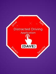 Screen shot of Dave, the distracting driving app, created