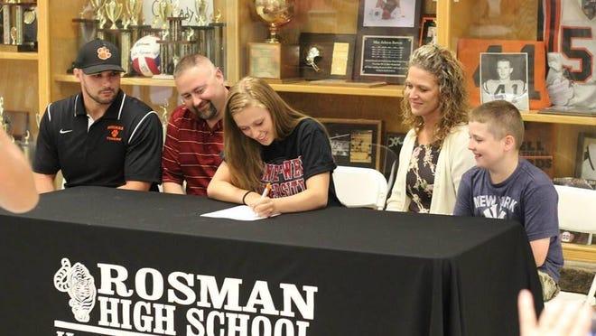 Rosman's Lauren Mahoney has signed to run college track for Gardner-Webb.