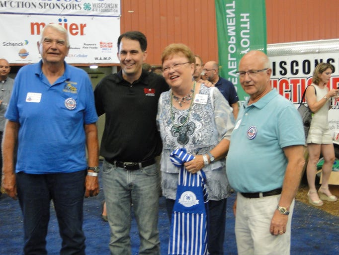 Several supporters of the Governor's Blue Ribbon Meats