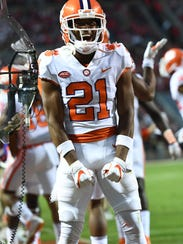 Clemson wide receiver Ray-Ray McCloud (21) during the