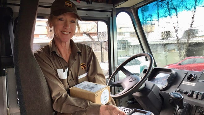 Cindy Cosby, pictured, has retired after 32 years with UPS, most of them spent delivering packages in west Redding.