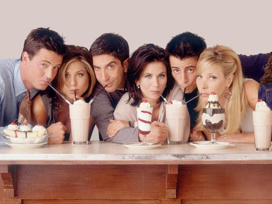 """Kathleen Turner got real about the """"Friends"""" cast, calling (from left) Matthew Perry, Jennifer Anniston, David Schwimmer, Courteney Cox, Matt LeBlanc and Lisa Kudrow unwelcoming."""