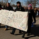 UW-Oshkosh Students March in Support of Standing Rock Sioux Tribe