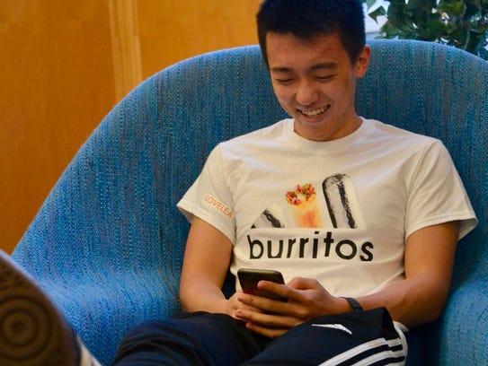 """Chen's popular """"Adidas Burritos"""" design."""