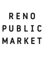 """New logo for Reno Public Market, formerly Shoppers Square. The """"+"""" marks framing the new name symbolize positivity as well as the two major cross streets; Plumb Lane and South Virginia Streets, according to a news release."""