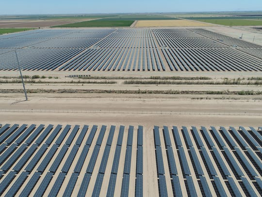 The 50-megawatt Sonora solar farm in Calipatria, California,