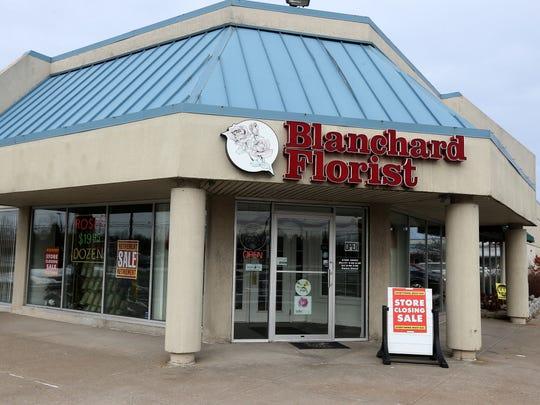 Blanchard Florist will close its doors on Jan. 31, 2018.