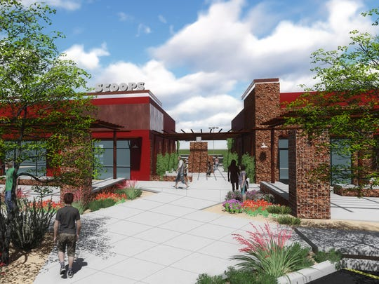 The Canyons at Cimarron will feature plazas and walkable