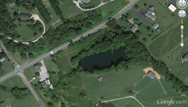 Google Earth view of the J & D Bollinger Bank.