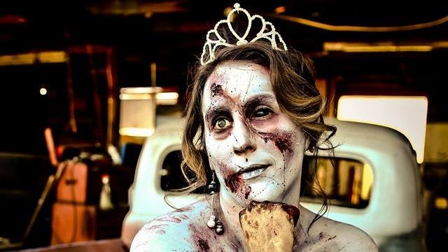 Learn how to achieve a horrifying zombie look with makeup at Theater Works.