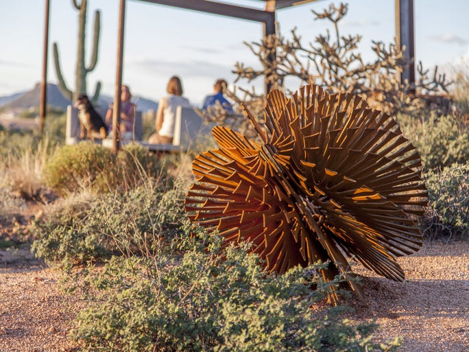 One of eight welded sculptures by Scottsdale artist