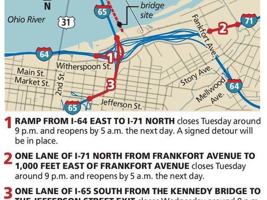 Ohio River Bridges Project Construction Causes Delays