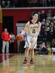 Verona's Joey Zecchino dribbles the ball up the court