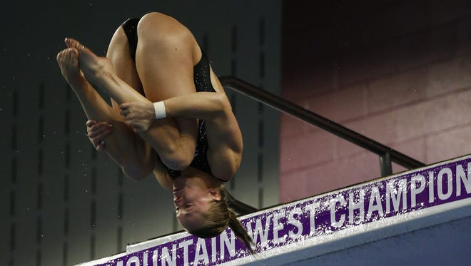Wolf Pack alum Krysta Palmer is competing in the FINA World Championships in Budapest this week.