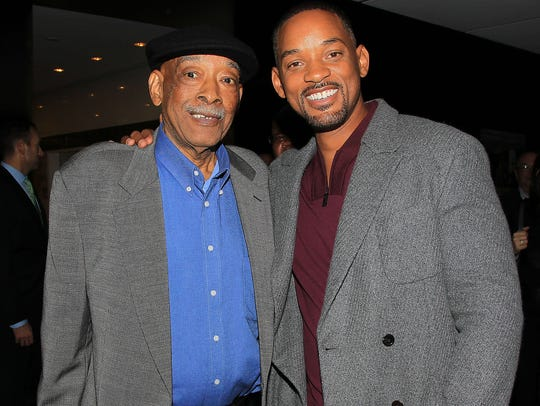 Willard Smith Sr. (left) and Will Smith at a screening