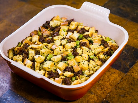 Chef Robin Miller made apple-sausage dressing with