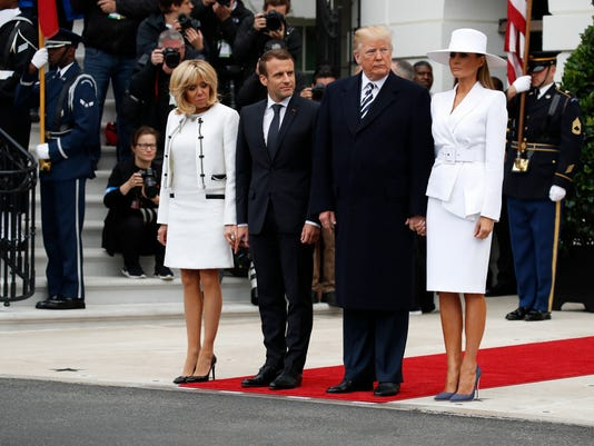 Image result for donald trump and wife on protocol photo
