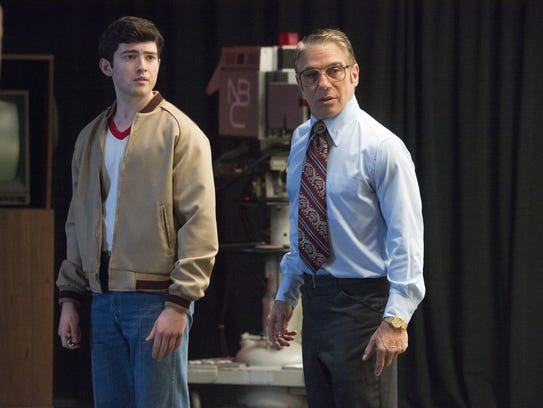 Andy Klavin (Ian Nelson) and Freddie (Tony Danza) work on 'The Tonight Show' in 'There's ... Johnny!' (Photo by: Lisa Rose)