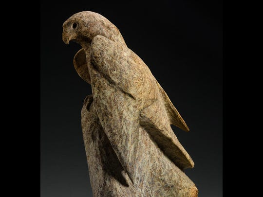 """Prairie Speed,"" soapstone carving by Gene Reineking, part of the Wildlife Biennial XVIII exhibit running from June 3 to July 18 at the Miller Art Museum in Sturgeon Bay."