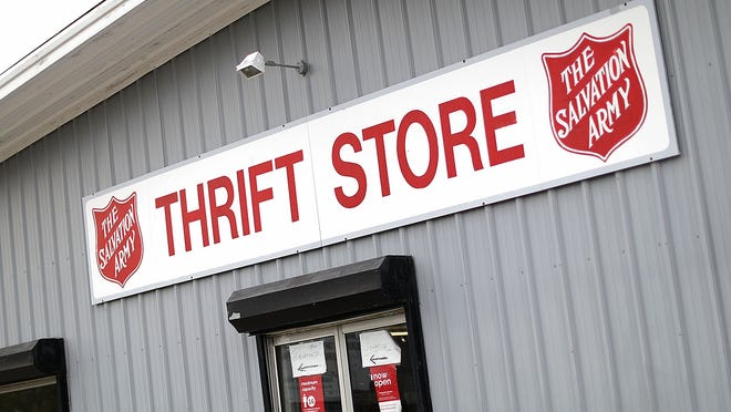 The Hanover Salvation Army thrift store on Washington Street. The organization is concerned about losing a large portion of its fundraising during the holiday season through the red kettle campains held at malls and supermarkets.