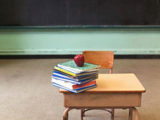 school desk-books