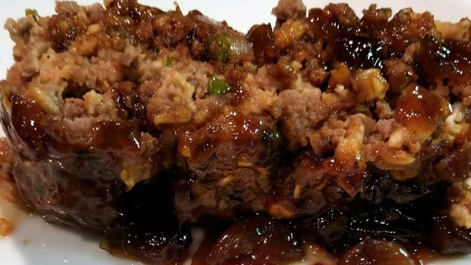 Meatloaf with Caramelized Onion Jam.
