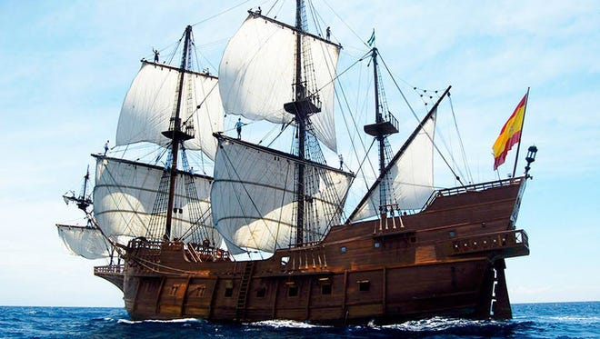 Nao Victoria Foundation The tall ship El Galeon is expected to arrive around noon today in Pensacola. El Galeon tall ship visiting Pensacola Oct. 22.