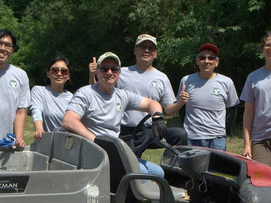 Merck employees and interns cleaned up Michael S. Bezega Park in Rahway recently for an Adopt-a-Park project. The volunteers used the event to pick up trash, clear trails, and cut away invasive vegetation in the park. If you, your organization or company would like to take part in Union County's Adopt-a-Park Program, call Parks & Recreation at 908-789-3683. An Adopt-a-Park coordinator will help you and your group select an area to maintain.