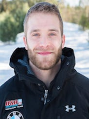 Sam Michener is a member of the four-man bobsled team.