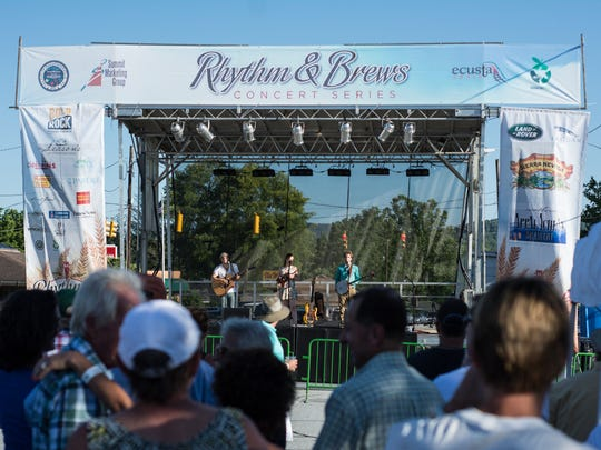 The Rhythm and Brews festival attracted thousands to downtown Hendersonville.