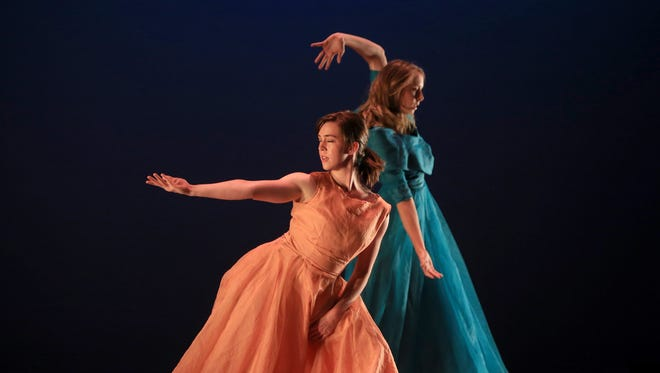 """Dancers perform """"Cedar, Ash and Apple"""" during the Red Rock Dance Festival Choreography Showcase on Friday at Tuacahn High School in Ivins City."""