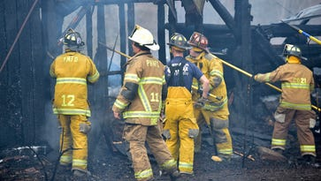 Accidental fire destroys abandoned house, mobile home