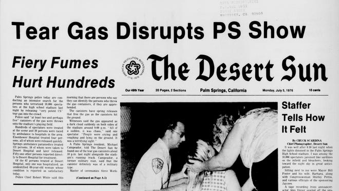Front page of the July 5, 1976, edition of The Desert Sun.