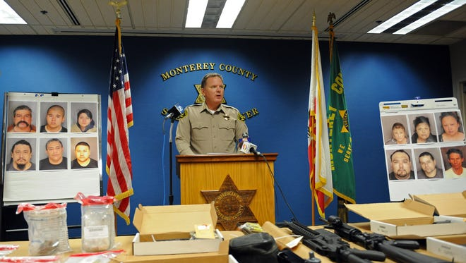 At a press conference on Wednesday, Monterey County Sheriff Steve Bernal spoke about the recovery of a number of stolen weapons, and the arrests of multiple suspects in a several cases.