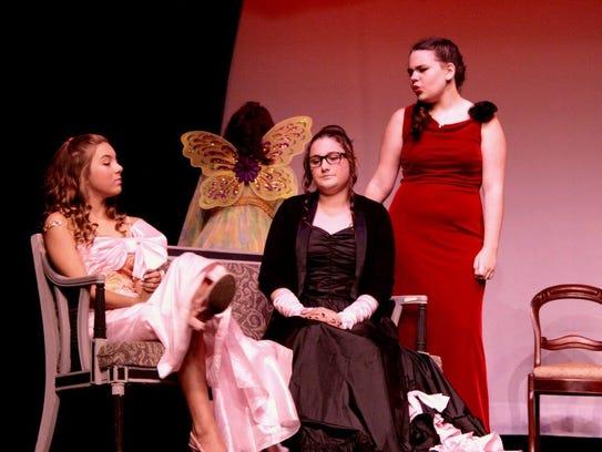 Tiffany Covella, left, Kaitlyn Powers, and Elizabeth