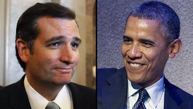 Sen. Ted Cruz and President Obama