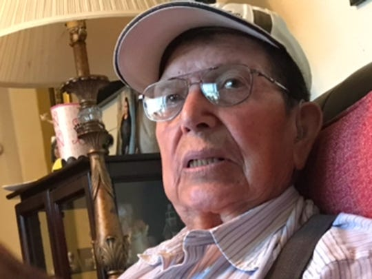 Pete Gomez Sr. of Sonora recalls the murders of the Arellano family in 1968 during an interview at his home. Gomez decided to place a memorial marker at the site of the slayings.