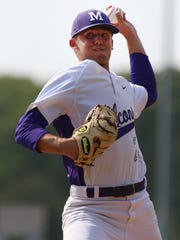 Monroe's Eric Heather pitches against Edison during