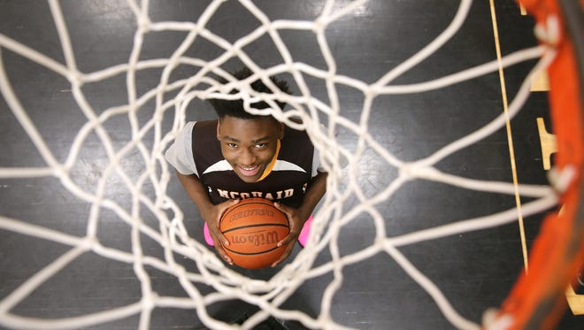 McQuaid freshman Isaiah Stewart is one of the top basketball players in the area.
