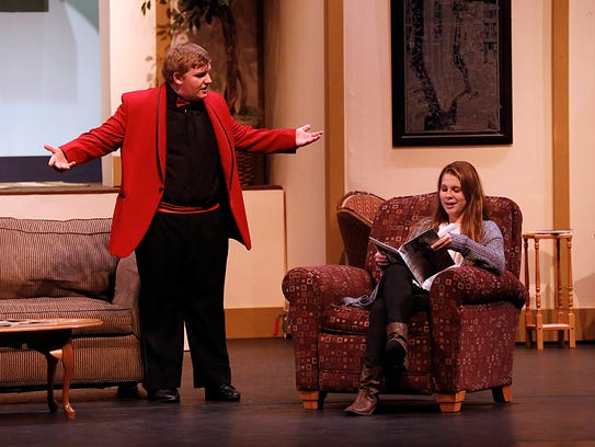 Students of Fond du lac High School practice the play