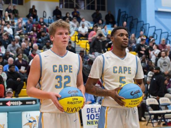 Cape Henlopen's Ian Robertson (32) and Randy Rickards