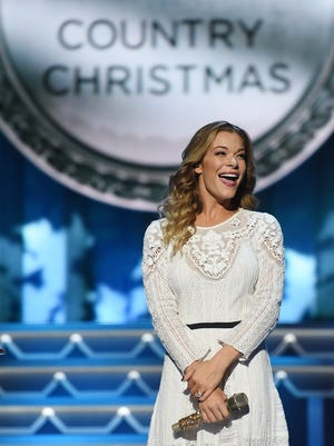 LeAnn Rimes performs during CMA's Country Christmas special taping at the Grand Ole Opry on Sat.  Nov. 7, 2015.