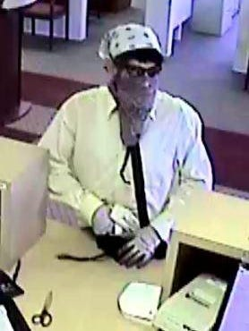 Police are looking for this man suspected of robbing the Iowa State Bank, 6410 S.W. Ninth St., just before 5 p.m. Wednesday.