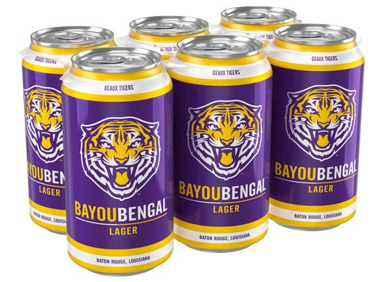 Bayou Bengal Lager, Louisiana State University, Tin