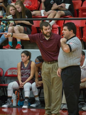 Kendall Webb (left) was named head girls basketball coach at Rider after spending the last three years holding the same position at Littlefield High School.